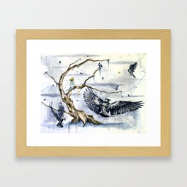 A Cage Looking For a Bird Framed Art Print