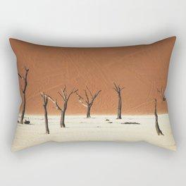 Group of Dead Trees Deadvlei Namibia Rectangular Pillow