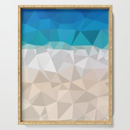 Low poly beach Serving Tray