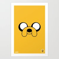 jake Art Prints featuring Jake by Shane Harris