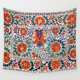 Shakhrisyabz Suzani Uzbekistan Antique Rug Wall Tapestry
