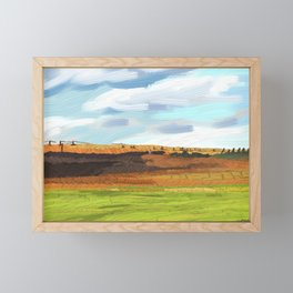 Farming Plain Framed Mini Art Print
