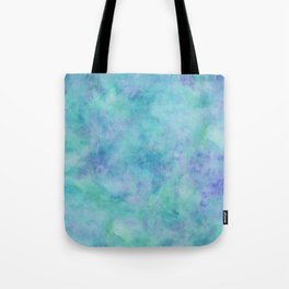 Teal and Blue Tropical Marble Watercolor Texture Tote Bag