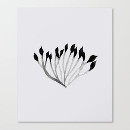 Baesic Mono Floral (Leaf 3) Canvas Print