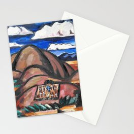 12,000pixel-500dpi - Marsden Hartley - Cemetery, New Mexico - Digital Remastered Edition Stationery Cards