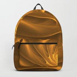 Gold Sahara. Hot desert. Sand dunes. Abstract golden spiral Backpack
