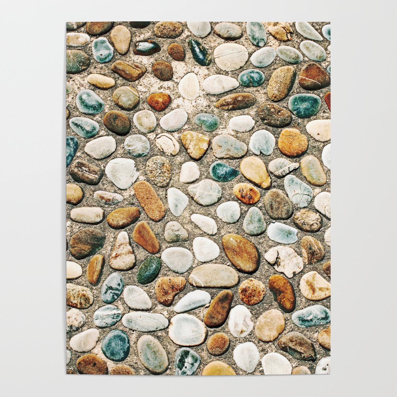Pebble Rock Flooring Vi Poster By