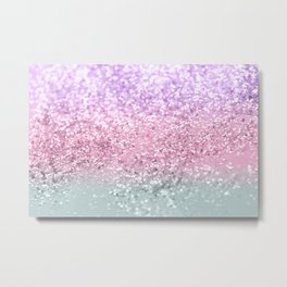 Unicorn Girls Glitter #7a #shiny #pastel #decor #art #society6 Metal Print