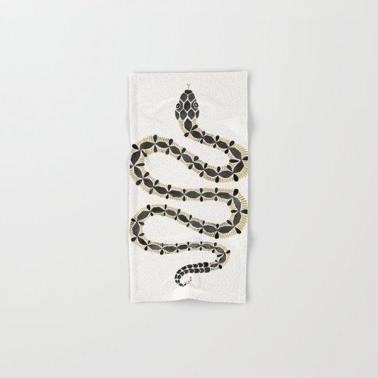 Serpent – Black & Gold Hand & Bath Towel