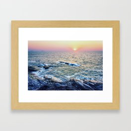 Sunset at fort Aguada Framed Art Print