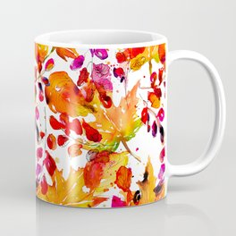 Watercolor autumn leaves Coffee Mug
