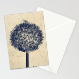 Wishing for a little breeze - Dandelion silhouette Stationery Cards
