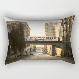 Morning Train Rectangular Pillow
