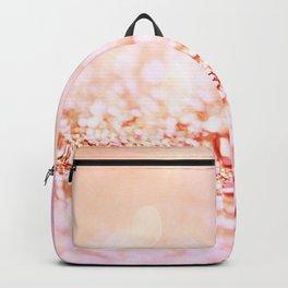 Pink shiny glitter - Sparkle Girly Valentine Backdrop Backpack