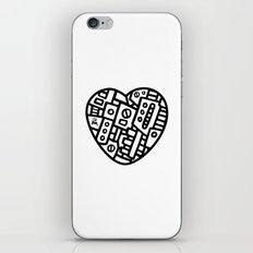 Iron heart (B&W Edition) - PM iPhone & iPod Skin
