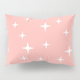 Mid Century Modern Star Pattern 443 Peach Pillow Sham