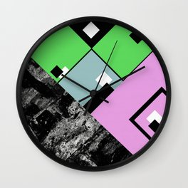 Conformity - Abstract, Textured, Geometric, Pop Art Wall Clock
