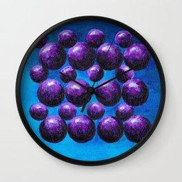 Purple Gumballs Wall Clock