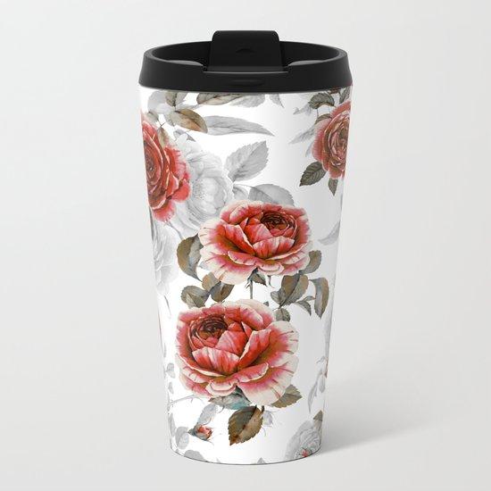 ROSE GARDEN II Metal Travel Mug