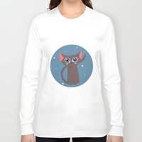 space cat Long Sleeve T-shirts featuring Space cat by Alex Fabri