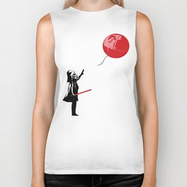 That's No Banksy Balloon (It's a Space Station) Biker Tank