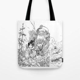 Promenade dans la montagne - Walking in the mountains Tote Bag