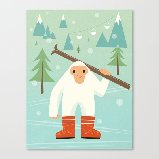 Yeti skieur Canvas Print