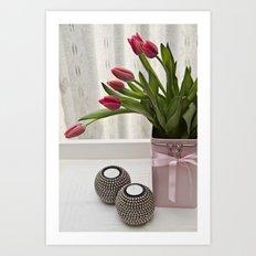 Tulips in Africa Art Print
