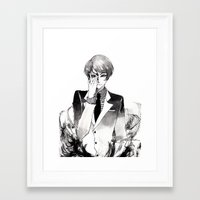 tokyo ghoul Framed Art Prints featuring Tokyo Ghoul Ink by fruits