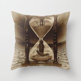 Sands of Time ... Memento Mori - Sepia Throw Pillow