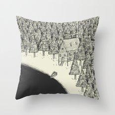 'Isolation' (B&W) Throw Pillow