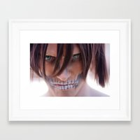 titan Framed Art Prints featuring Titan by 3dbrooke
