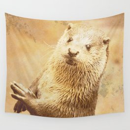 Vintage Animals - Otter Wall Tapestry
