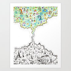The Isthmus of Ideology Art Print