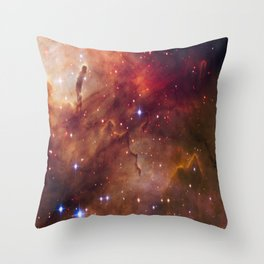 picture of star by hubble : westerlund Throw Pillow