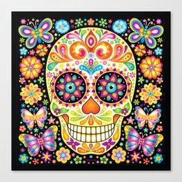 Día de Muertos Sugar Skull (Fiesta) Canvas Print