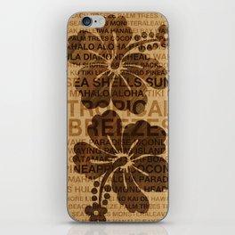 Summer Words Hawaiian Hibiscus Graphic Design iPhone Skin