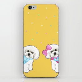 Bichon Frise Holidays yellow cute dogs, Christmas gift, holiday gift, birthday gift, dog, Bijon iPhone Skin