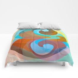 Geometric Ampersand Rainbow Comforters