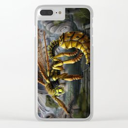 Dragon Wasp Clear iPhone Case