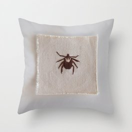 Dog Tick Throw Pillow