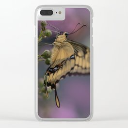 King Swallowtail Butterfly Clear iPhone Case