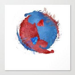 supervalor yinyang v2 Canvas Print