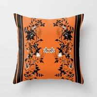 baroque Throw Pillows featuring baroque by Maria Fernanda Furtado
