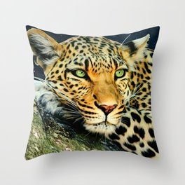 Leopards Gaze 3 Throw Pillow