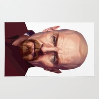 walter white Area & Throw Rugs featuring WALTER WHITE by nachodraws