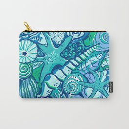 She Sells Sea Shells Blue Carry-All Pouch