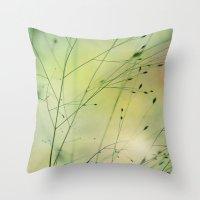 grass Throw Pillows featuring Grass by Lena Weiss