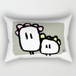 Two ghosts Rectangular Pillow