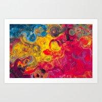 Abstract Painting Circles Art Print